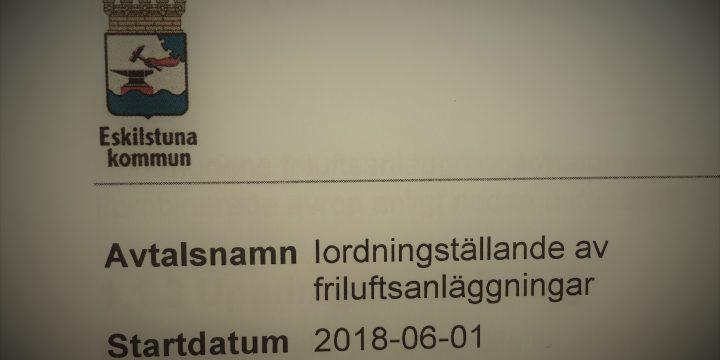 Ramavtal iordningställande av friluftsanläggningar i Eskilstuna Kommun